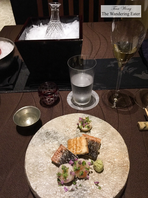 Course 5 - Eel, Chinese yam, plum with my sake pairing and other beverages