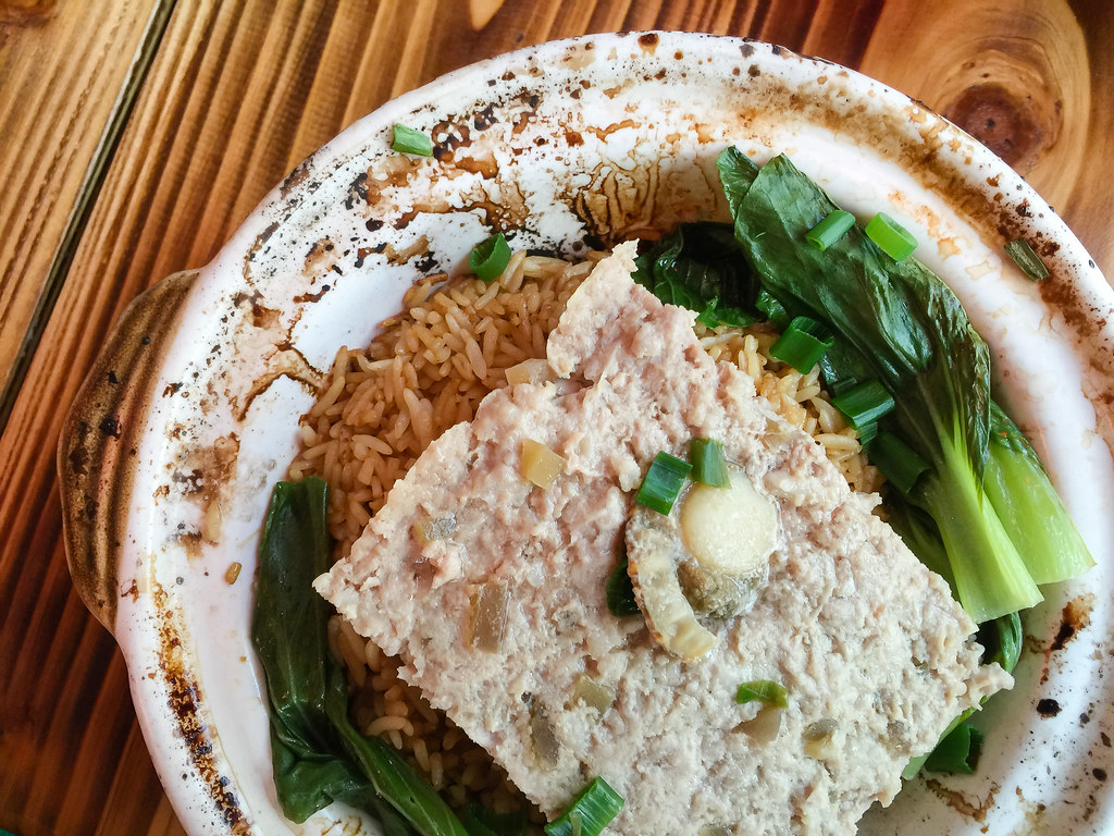 Scallop Prawn Meat Patty Claypot Rice