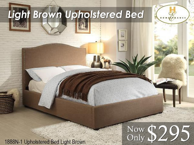 Light Brown Upholstered 1888N-1