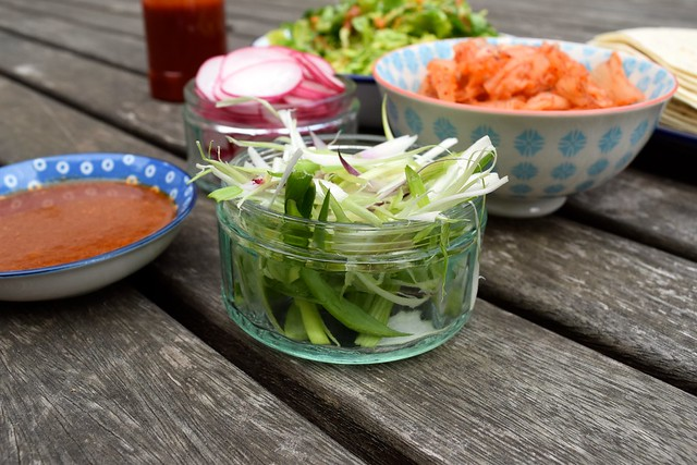 Vegetables for Korean Barbecue Tacos