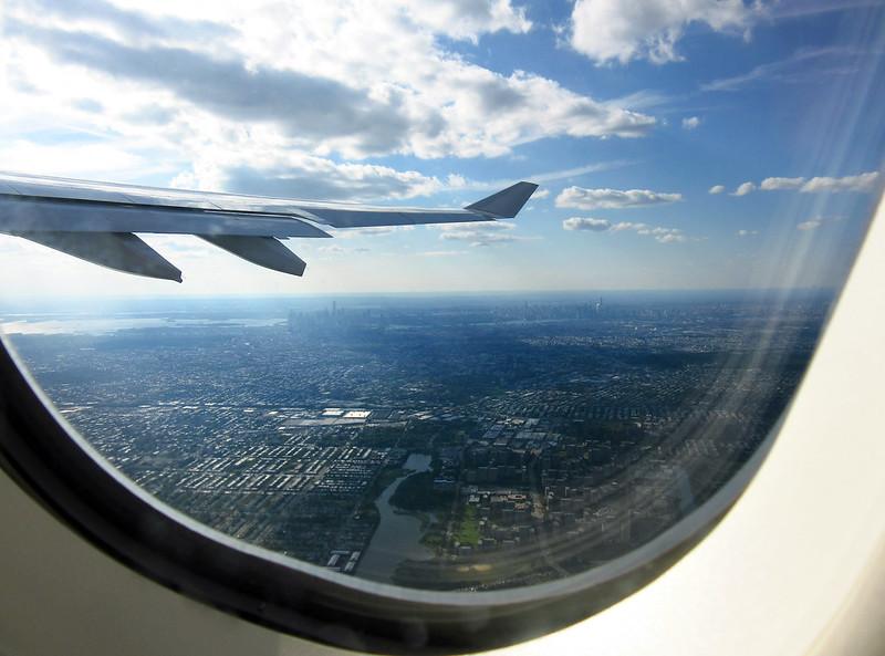 Nueva York y Manhattan desde el avión