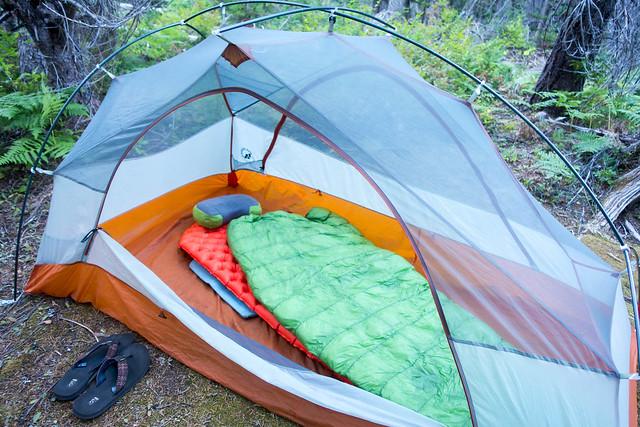 Campsite, Waptus River, m2425