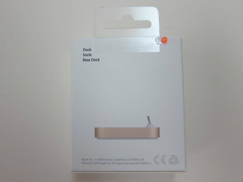 Apple iPhone Lightning Dock (Gold) - Box Back