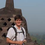 Claudio en Borobudur