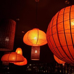 #lanterns of all shapes and sizes glow in a dark room. Captured on an #iphone5S and #unedited