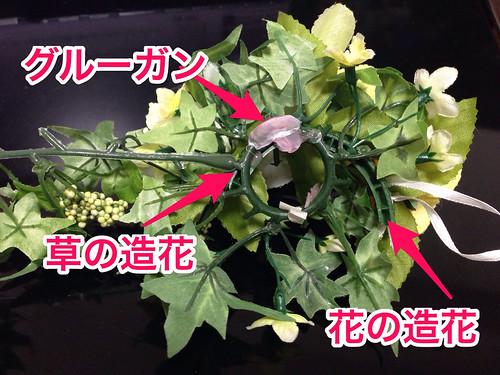 ウェルカムボード用の造花の構成