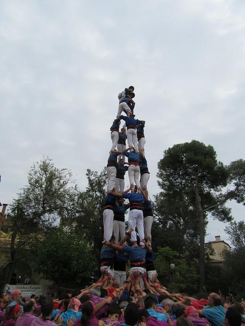 Castellers d'Esplugues a Sant Just, 2015