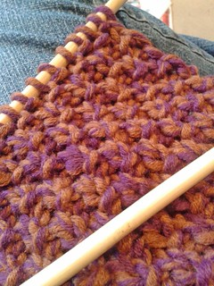 Timber cowl - double moss stitch