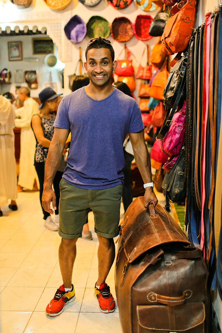 Buying Morocco Leather and Taking in the Colorful Sights and Strange Smells of the Chouara Tannery in the Fes Medina.