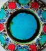 Grünstadt-Keramik, Reiner Gehrig - Large Colourful Fritted Glaze Plate (3162, overglazed)