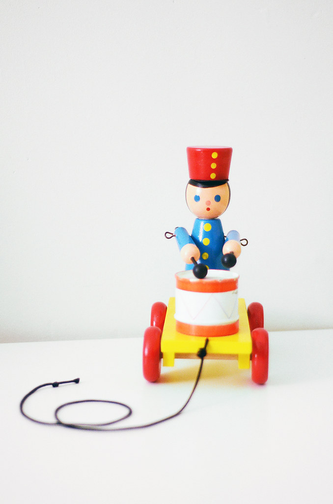 Vintage Little Drummer Boy Pull Toy