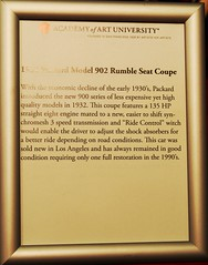 1932 Packard Model 902 Rumble Seat Coupe Info