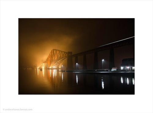 Northbound Train / Forth Rail Bridge at Night