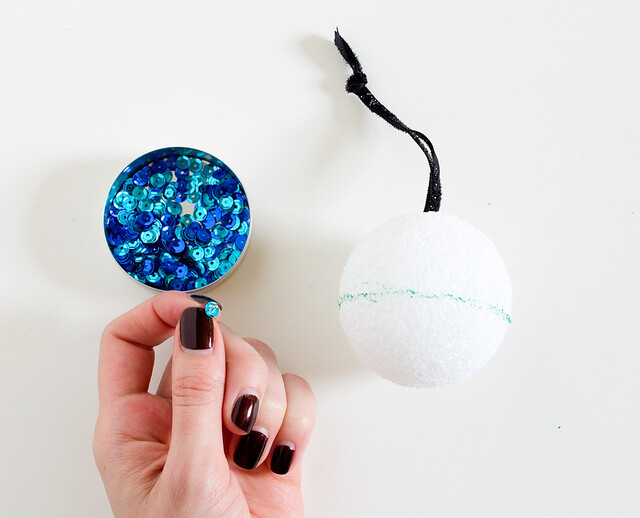 DIY Ombre Sequin Oraments