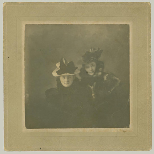 Two Women with Hats