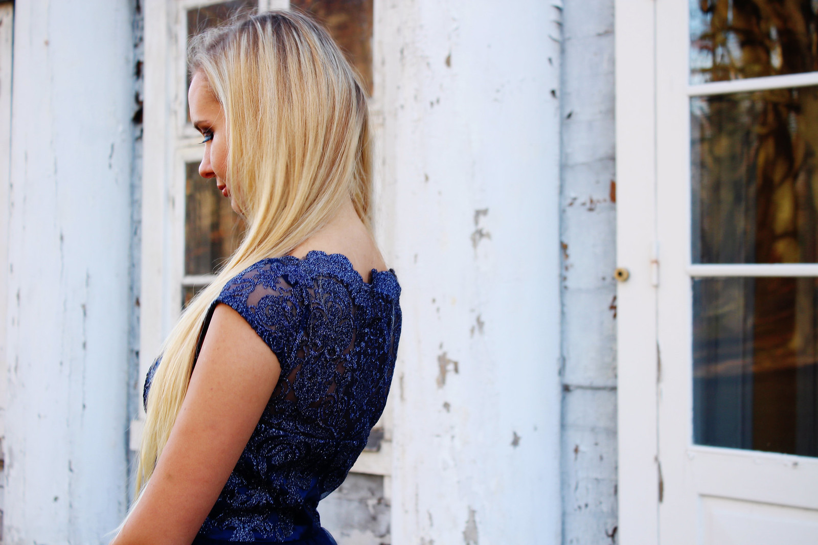 Lace detailing back Amara dress