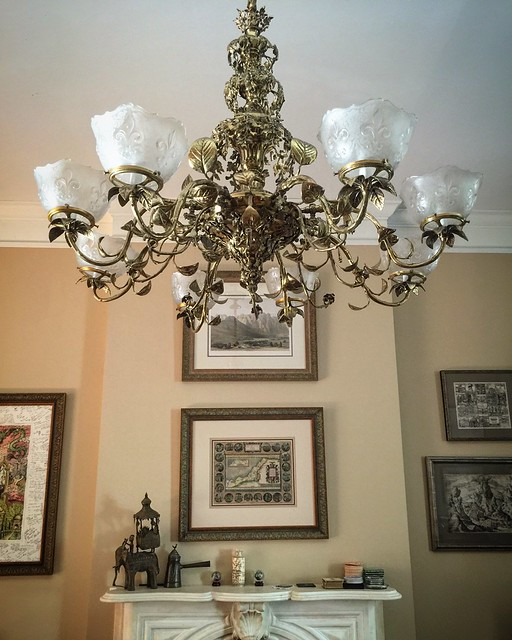 Who wants to come over and swing on the new chandelier?