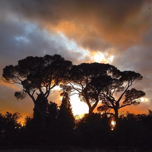 sunset landcape midipyrénées