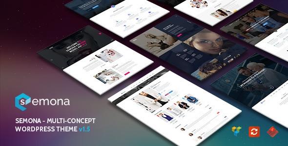 Themeforest Semona v1.5.4 – Creative Multi-Concept WordPress Theme