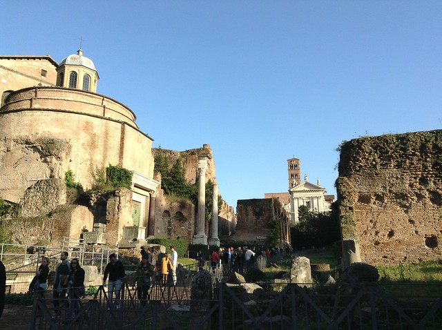The Roman forum: looking towards la via sacra