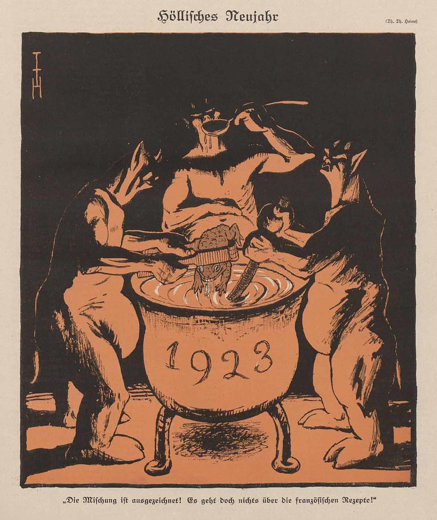 Thomas Theodor Heine - Hellish New Year, 1922