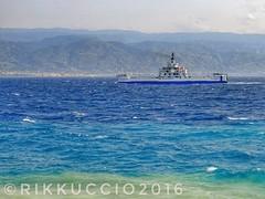 Mare mosso nello stretto di Messina!!