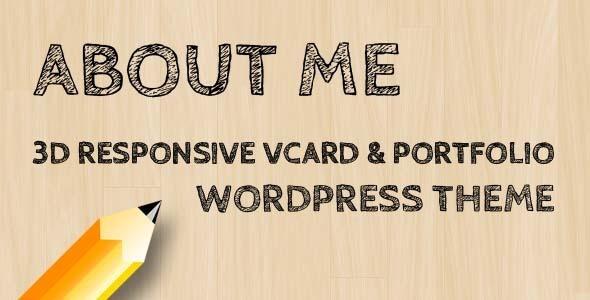 AboutMe v1.8.4 - 3D Responsive Vcard & Portfolio WP-Theme