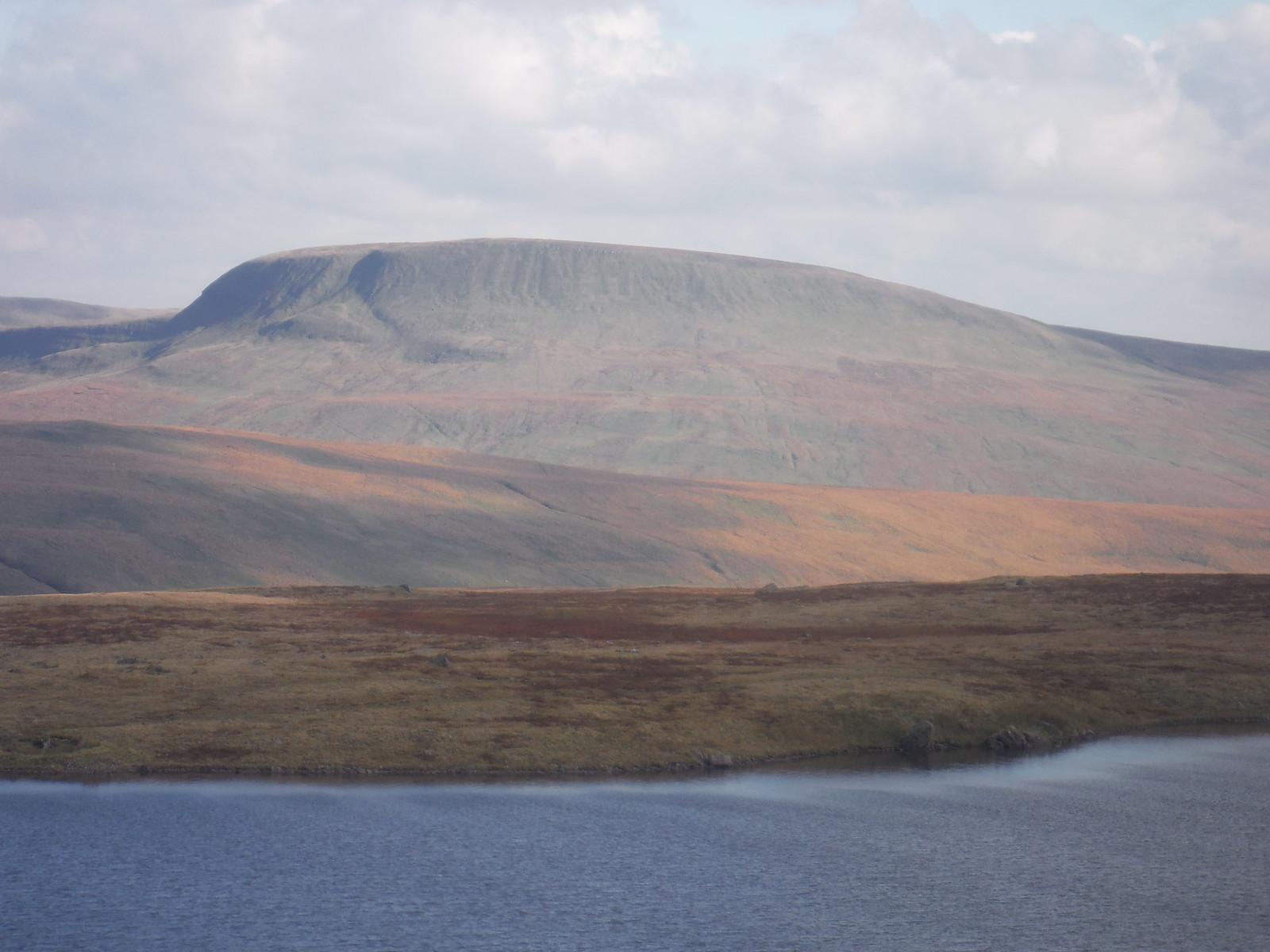 Fan Gyhirych across Llyn y Fan Fawr SWC Walk 279 The Black Mountain - Y Mynydd Du (Glyntawe Circular)