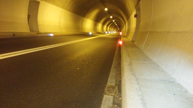 The summit of a col was in the middle of this 1 mile tunnel