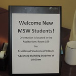 MSW Fall 2015 Student Orientation, August 20, 2015