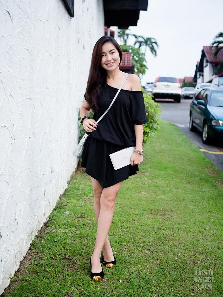 black-casual-short-dress