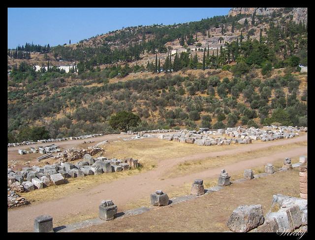 Grecia Delfos Osios Lukas Kalambaka - Gimnasio del Santuario de Atenea Pronaia