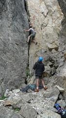Steef en Ronald in klimgebied Knorren.