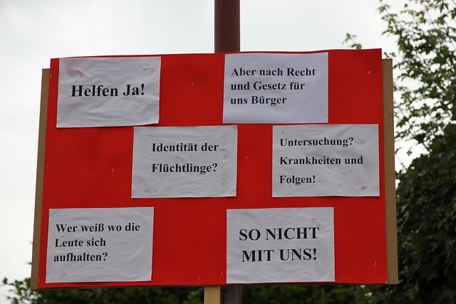 Huttenheim Asylanten Protestplakat