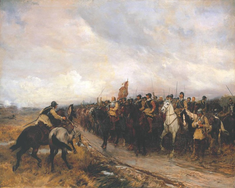 Cromwell at Dunbar, by Andrew Carrick Gow