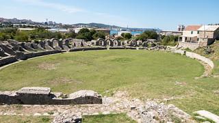 Imagem de Salona amphitheater. archaeology croatia croatie archéologie salona solins salonaantica