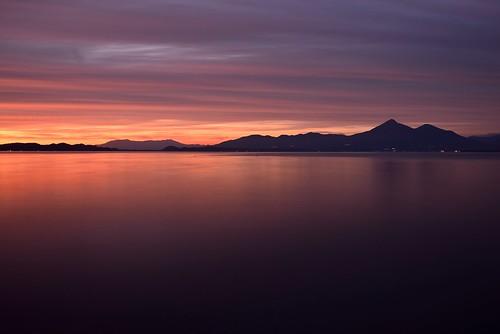 lake japan 日本 fukushima afterglow koriyama 福島 磐梯山 inawashiro 猪苗代湖 bandaisan 郡山 残照