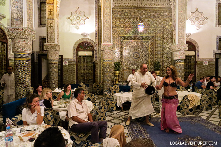 Go to a Belly Dancing Dinner (21 Fascinating Things to Do in Marrakech Morocco).