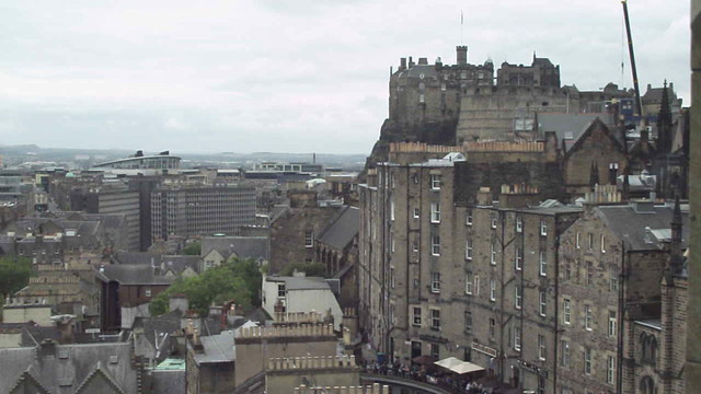 Edinburgh Old Town panorama vid