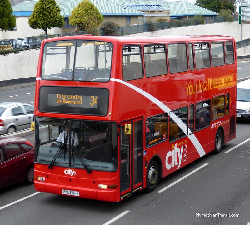 Plymouth Citybus 480 PK02RFF