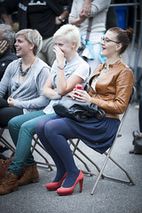 Amsterdam, The Netherlands - August 16 2014: during the open air screening of Uruguayan film Rambleras at the Vondelpark the World Cinema Amsterdam festival, a world film festival held from 14 to 24/08/2014