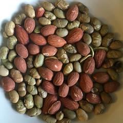 Almonds and Edamame
