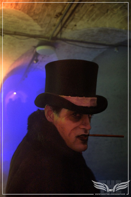 The Establishing Shot: OSWALD COBBLEPOT AKA THE PENGUIN AT THE ROGUES GALLERY - CREATION OF A   SUPER-VILLAIN BOOK LAUNCH @ THE CRYPT GALLERY, LONDON - OCT 2015