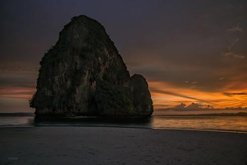 sunset beach sunrise asian thailand island photography asia view tailandia krabi nang andaman phra railay cromeo