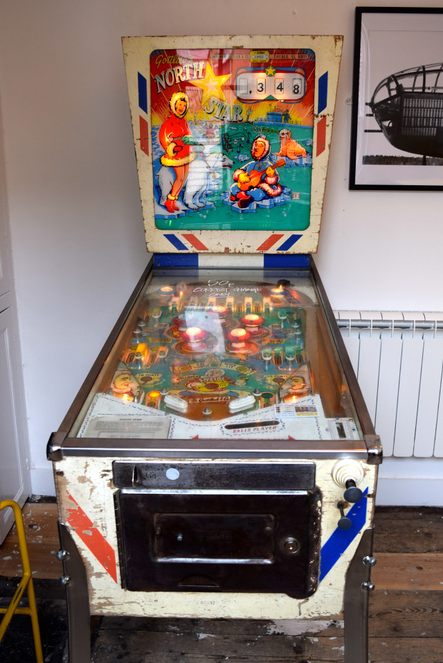 Pinball Machine in Little Joe's Deli, Canterbury | www.rachelphipps.com @rachelphipps