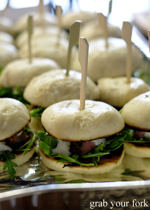 Miso beef bao sliders at the Sydney Food Bloggers Christmas Party 2015 #sydfbxmas2015