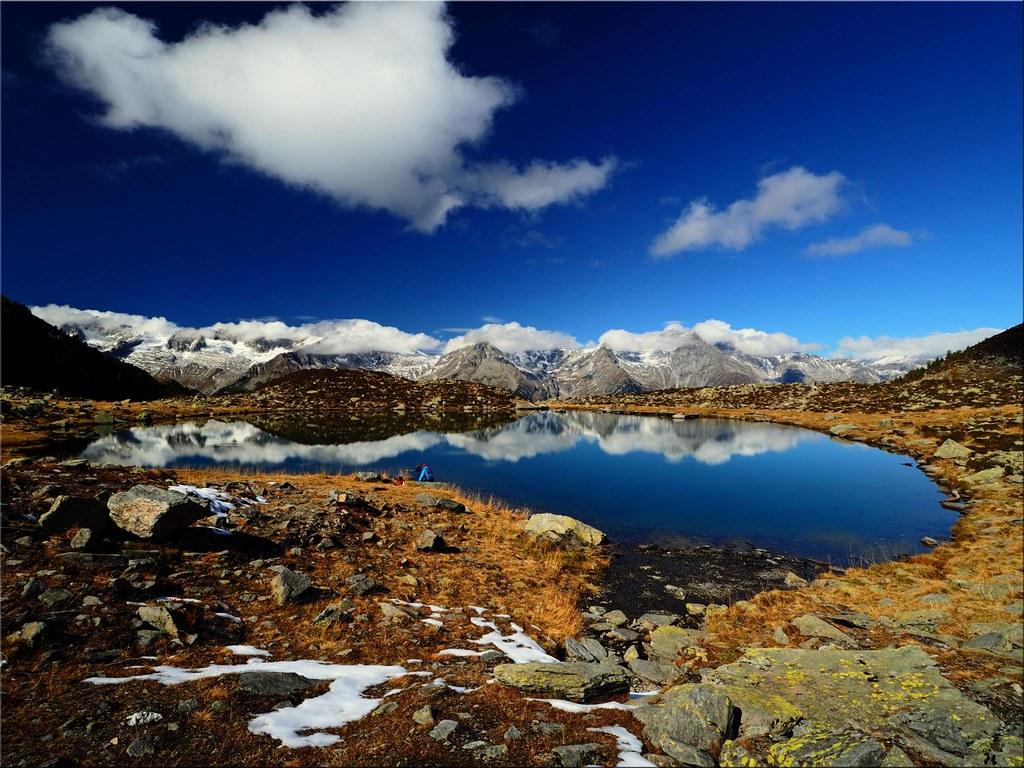 Der  Klaussee in 2.162 m  Höhe  im  Ahrntal