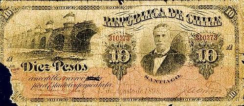 Lot 72 Republica De Chile, 1898 Provisional Issue