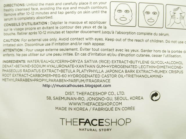 The Face Shop Real Nature Face Mask Rice Ingredients Around The World