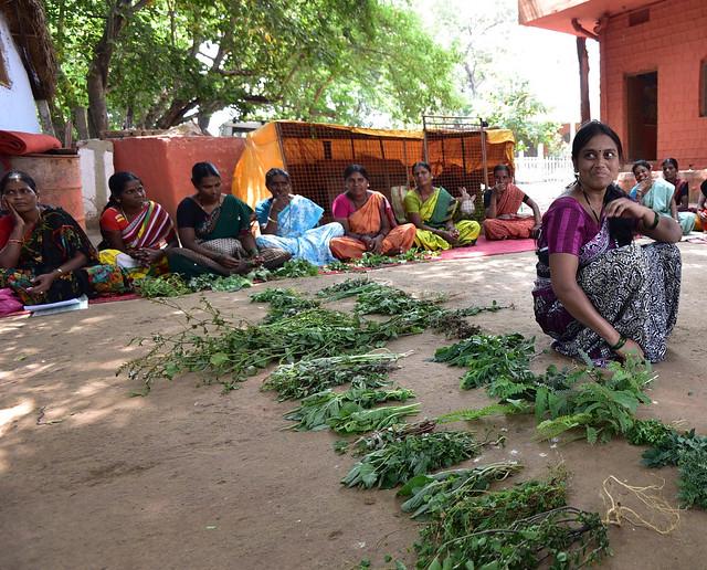 woman farmer displaying her organic produce